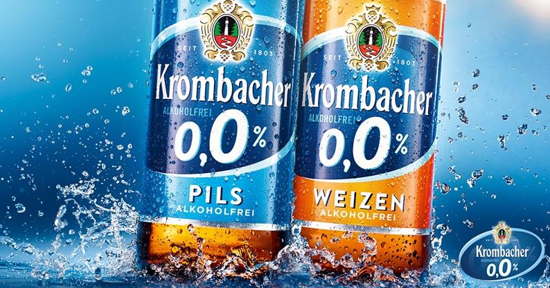 Krombacher o,0% als alkoholfreier Durstlöscher beim KBL