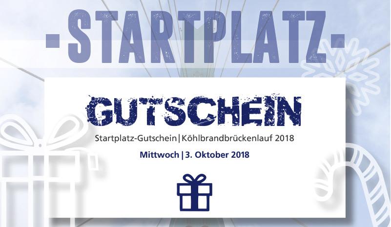 Startplatzgutschein für den Köhlbrandbrückenlauf 2018
